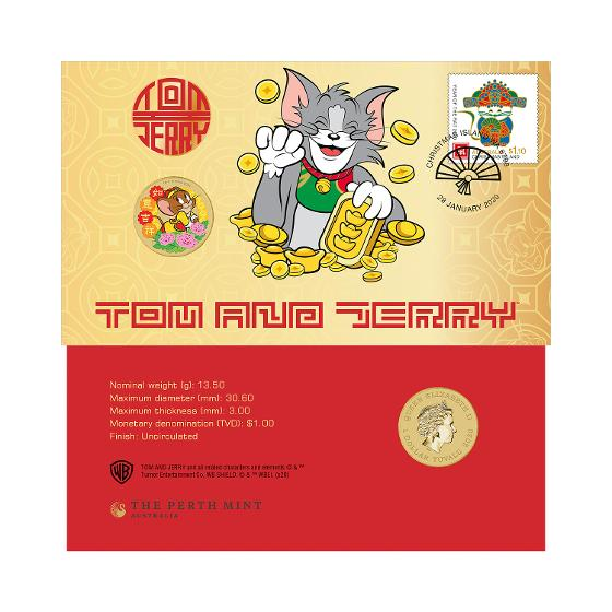 Tom and Jerry postal numismatic cover product photo Internal 1 DETAILS