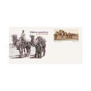 Afghan Cameleers of the outback postage paid envelope product photo